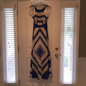 Eliza J long dress to dress up or down, size 10!
